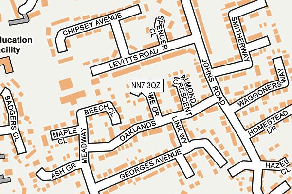 NN7 3QZ map - OS OpenMap – Local (Ordnance Survey)