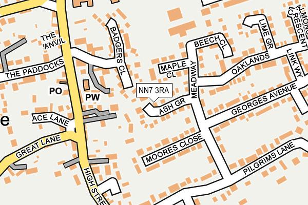 NN7 3RA map - OS OpenMap – Local (Ordnance Survey)