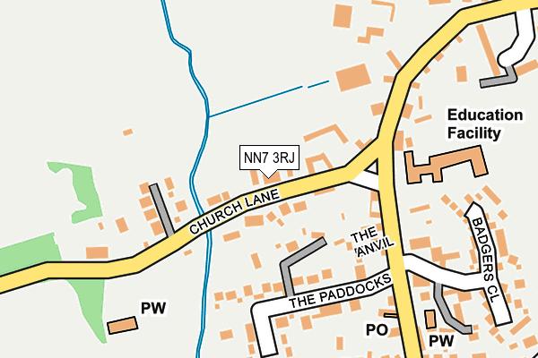 NN7 3RJ map - OS OpenMap – Local (Ordnance Survey)