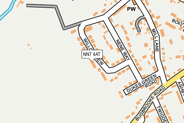 NN7 4AT map - OS OpenMap – Local (Ordnance Survey)