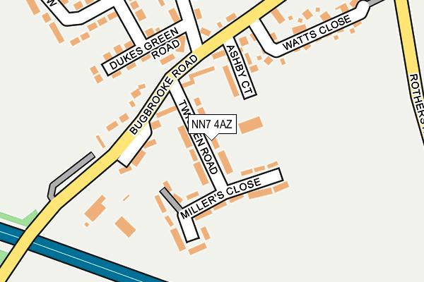 NN7 4AZ map - OS OpenMap – Local (Ordnance Survey)