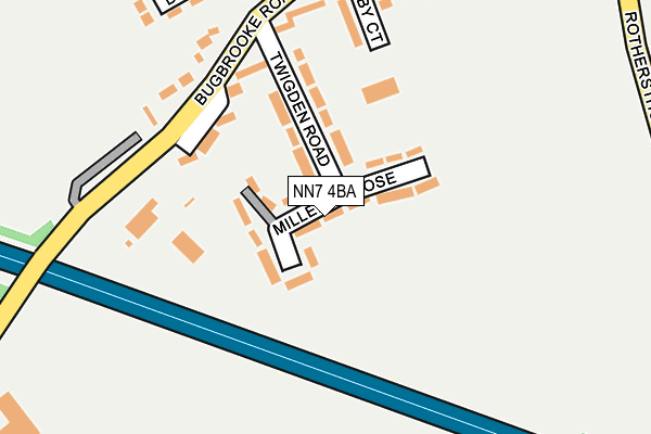 NN7 4BA map - OS OpenMap – Local (Ordnance Survey)
