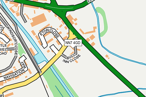 NN7 4GD map - OS OpenMap – Local (Ordnance Survey)