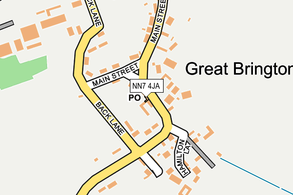 NN7 4JA map - OS OpenMap – Local (Ordnance Survey)