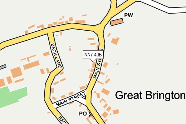 NN7 4JB map - OS OpenMap – Local (Ordnance Survey)