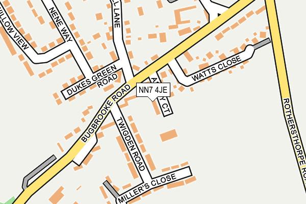 NN7 4JE map - OS OpenMap – Local (Ordnance Survey)