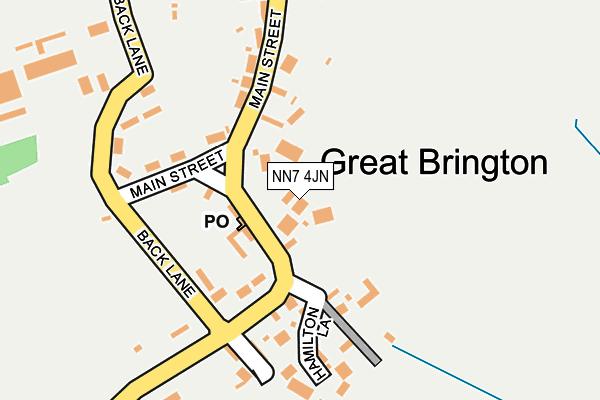 NN7 4JN map - OS OpenMap – Local (Ordnance Survey)