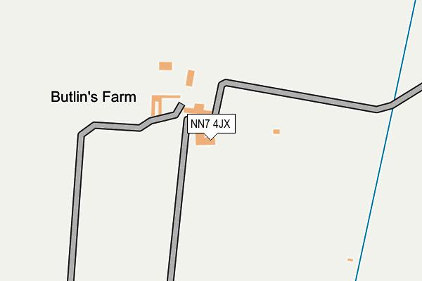 NN7 4JX map - OS OpenMap – Local (Ordnance Survey)