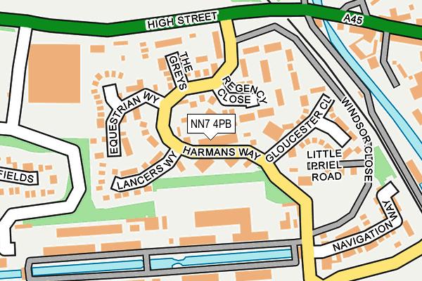NN7 4PB map - OS OpenMap – Local (Ordnance Survey)