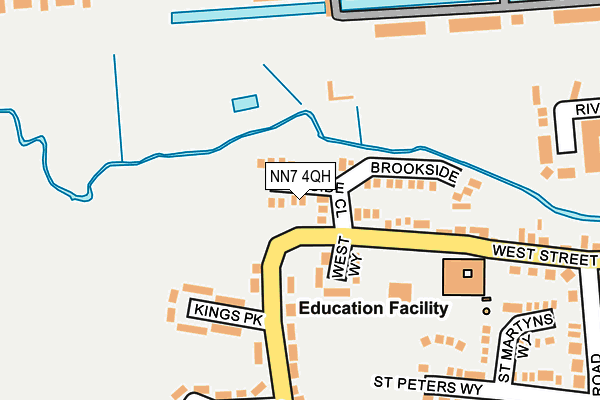 NN7 4QH map - OS OpenMap – Local (Ordnance Survey)
