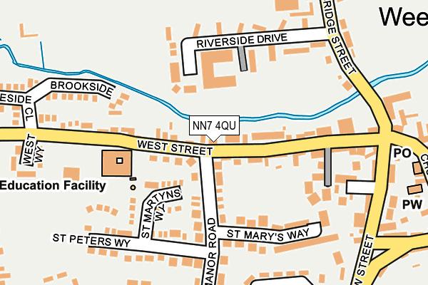 NN7 4QU map - OS OpenMap – Local (Ordnance Survey)