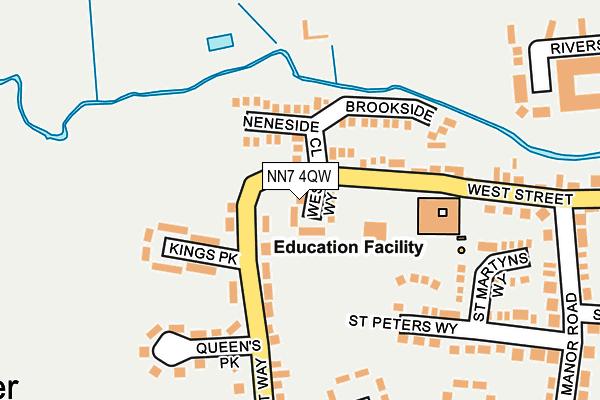 NN7 4QW map - OS OpenMap – Local (Ordnance Survey)