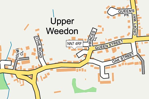 NN7 4RF map - OS OpenMap – Local (Ordnance Survey)