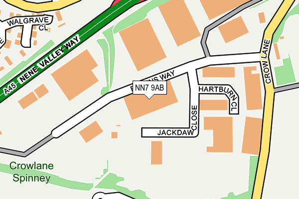 NN7 9AB map - OS OpenMap – Local (Ordnance Survey)