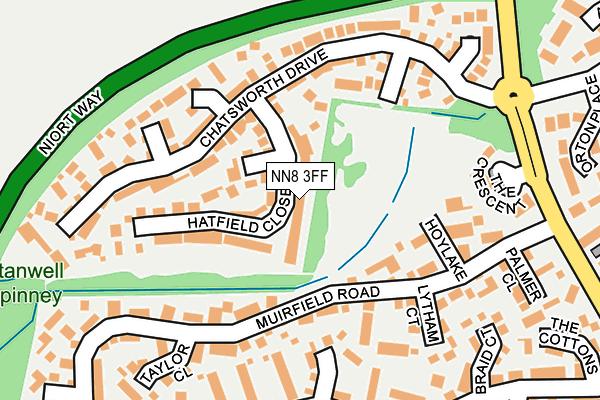 NN8 3FF map - OS OpenMap – Local (Ordnance Survey)
