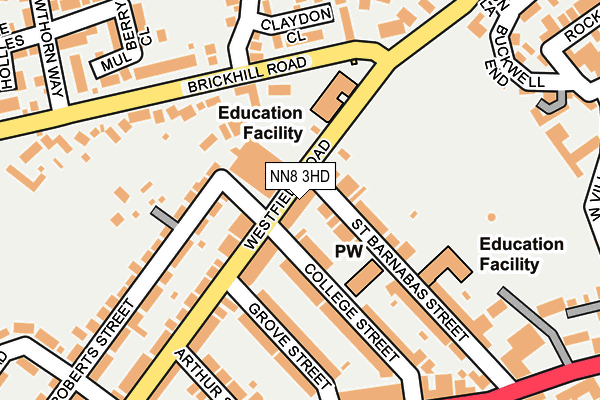 NN8 3HD map - OS OpenMap – Local (Ordnance Survey)