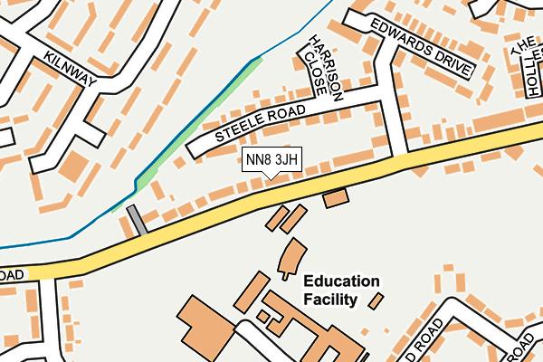 NN8 3JH map - OS OpenMap – Local (Ordnance Survey)
