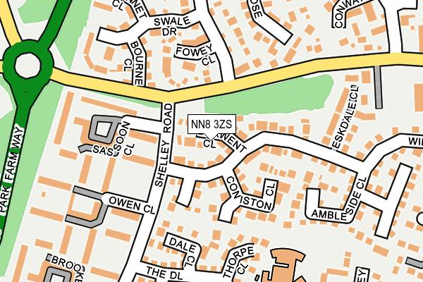 NN8 3ZS map - OS OpenMap – Local (Ordnance Survey)
