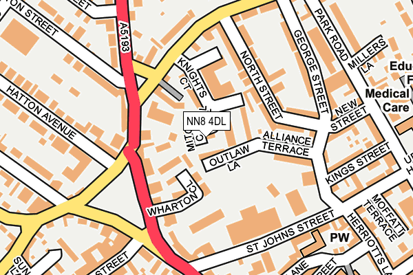NN8 4DL map - OS OpenMap – Local (Ordnance Survey)
