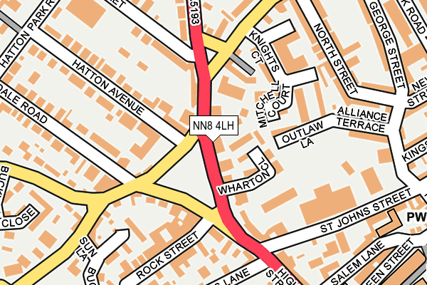 NN8 4LH map - OS OpenMap – Local (Ordnance Survey)