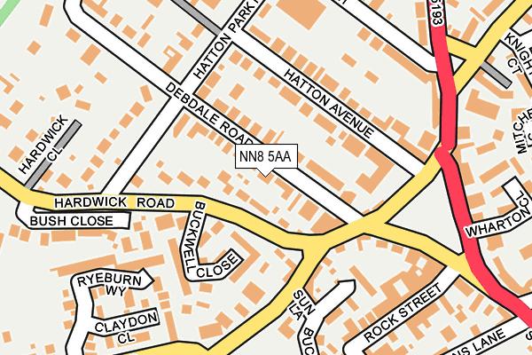 NN8 5AA map - OS OpenMap – Local (Ordnance Survey)