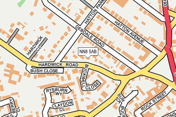 NN8 5AB map - OS OpenMap – Local (Ordnance Survey)