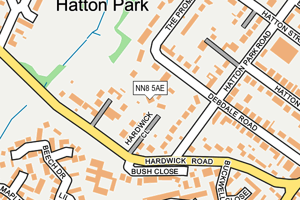 NN8 5AE map - OS OpenMap – Local (Ordnance Survey)