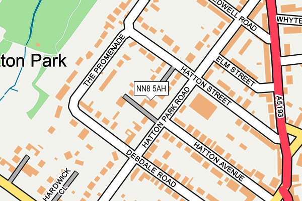 NN8 5AH map - OS OpenMap – Local (Ordnance Survey)