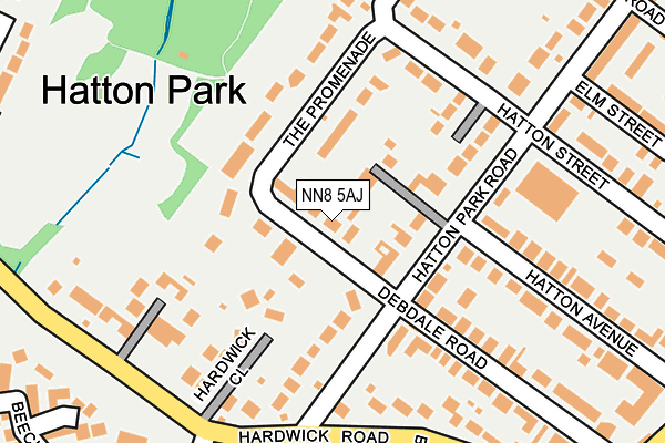NN8 5AJ map - OS OpenMap – Local (Ordnance Survey)