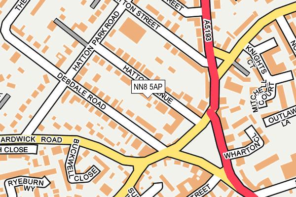 NN8 5AP map - OS OpenMap – Local (Ordnance Survey)