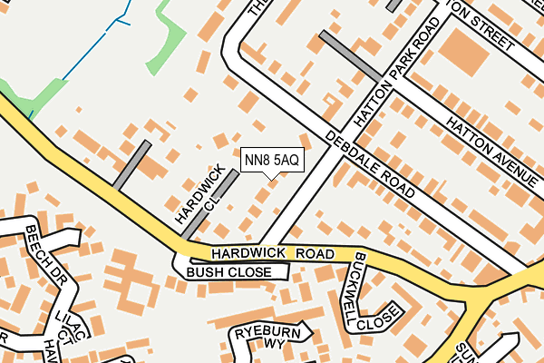 NN8 5AQ map - OS OpenMap – Local (Ordnance Survey)