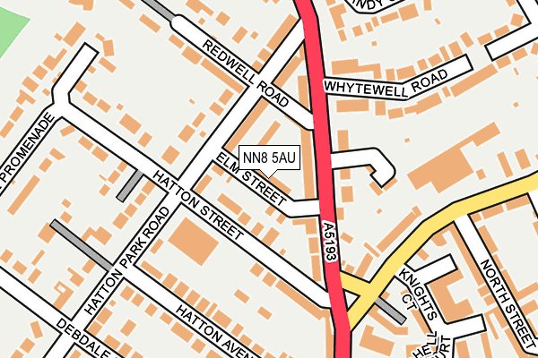 NN8 5AU map - OS OpenMap – Local (Ordnance Survey)