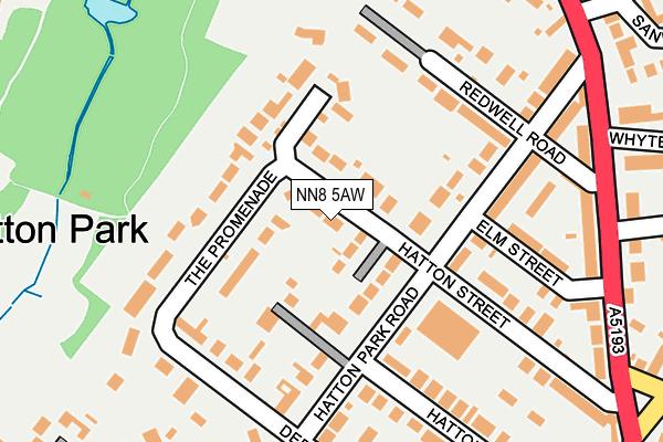 NN8 5AW map - OS OpenMap – Local (Ordnance Survey)