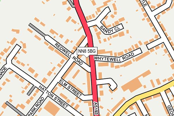 NN8 5BG map - OS OpenMap – Local (Ordnance Survey)
