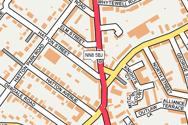 NN8 5BJ map - OS OpenMap – Local (Ordnance Survey)