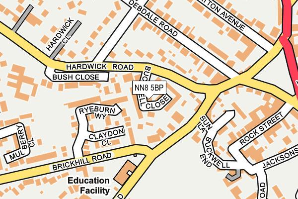 NN8 5BP map - OS OpenMap – Local (Ordnance Survey)