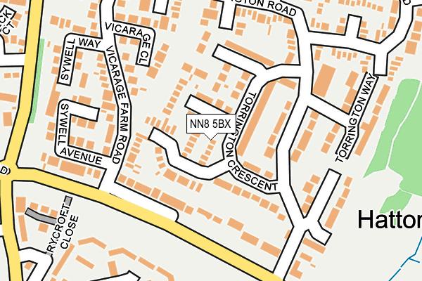 NN8 5BX map - OS OpenMap – Local (Ordnance Survey)