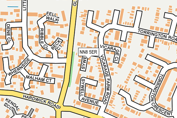 NN8 5ER map - OS OpenMap – Local (Ordnance Survey)