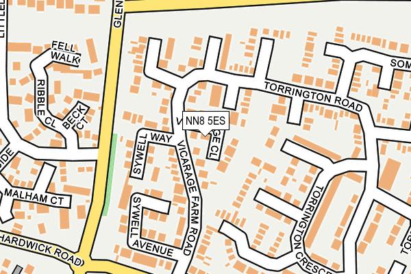 NN8 5ES map - OS OpenMap – Local (Ordnance Survey)