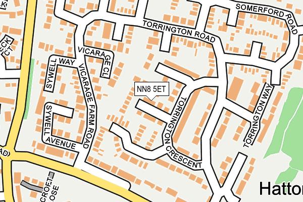 NN8 5ET map - OS OpenMap – Local (Ordnance Survey)