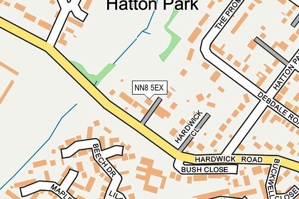 NN8 5EX map - OS OpenMap – Local (Ordnance Survey)