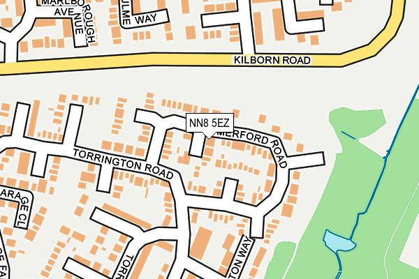 NN8 5EZ map - OS OpenMap – Local (Ordnance Survey)