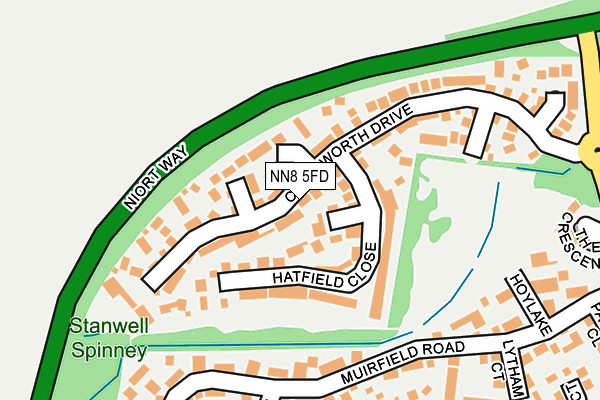 NN8 5FD map - OS OpenMap – Local (Ordnance Survey)