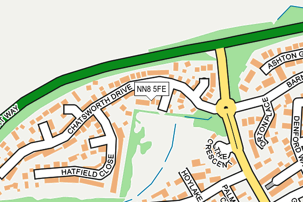 NN8 5FE map - OS OpenMap – Local (Ordnance Survey)