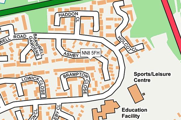 NN8 5FH map - OS OpenMap – Local (Ordnance Survey)