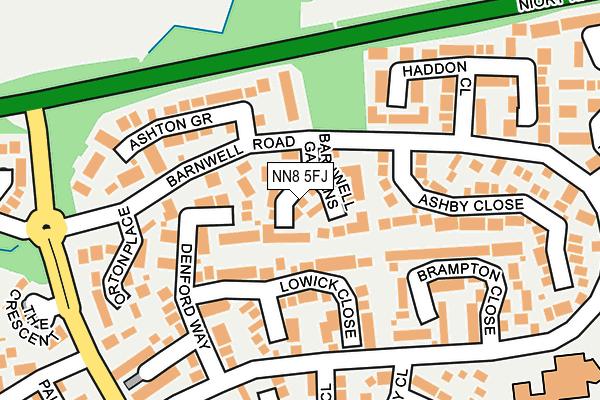NN8 5FJ map - OS OpenMap – Local (Ordnance Survey)