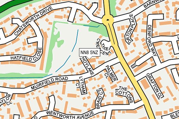 NN8 5NZ map - OS OpenMap – Local (Ordnance Survey)