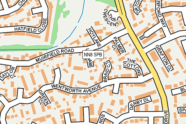 NN8 5PB map - OS OpenMap – Local (Ordnance Survey)