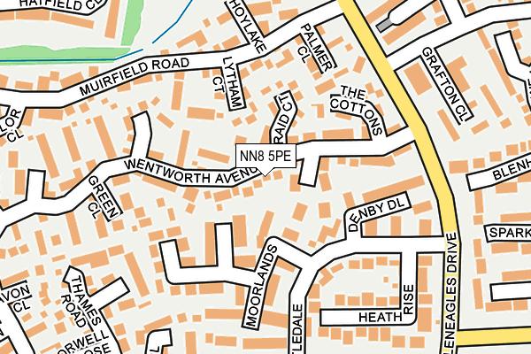 NN8 5PE map - OS OpenMap – Local (Ordnance Survey)