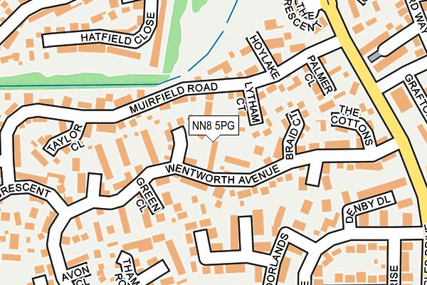 NN8 5PG map - OS OpenMap – Local (Ordnance Survey)